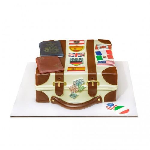 کیک  چمدان