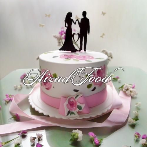 کیک گل با تاپرکاپل