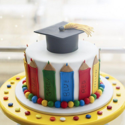 کیک مداد رنگی
