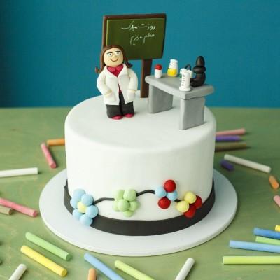 کیک استاد شیمی
