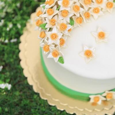 کیک تاج نرگس