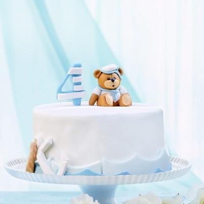 کیک خرس آبی