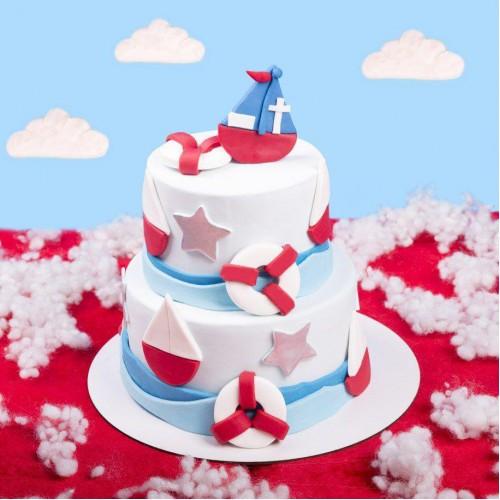 کیک لنگر و کشتی