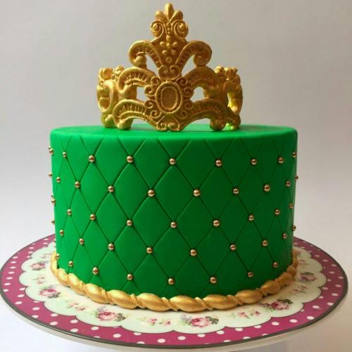 کیک تاج سبز