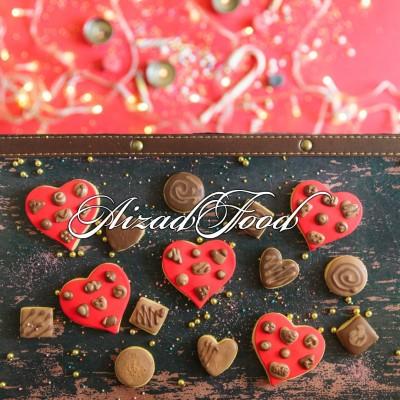 کوکی قلب شکلاتی