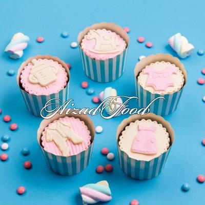 کاپ کیک نوزادی دخترانه