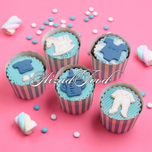 کاپ کیک نوزادی پسرانه
