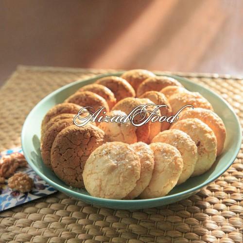 شیرینی  نارگیلی و گردویی