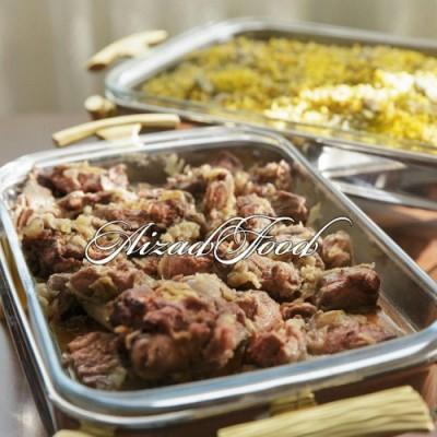 شوید باقالی پلو با گوشت